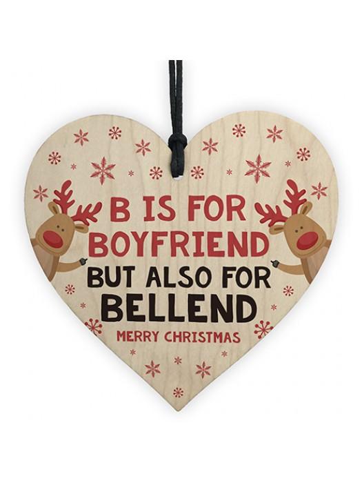 FUNNY Christmas Gift For Boyfriend Heart Rude Gift For Boyfriend