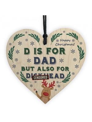 Funny Rude Joke Christmas Gift For Dad Heart Novelty Gift