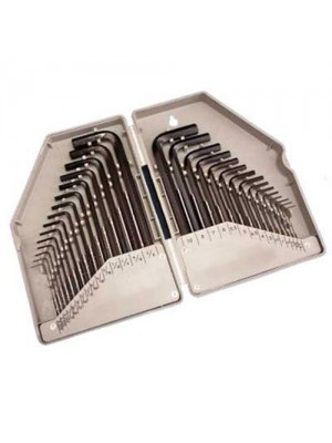 30 Piece Metric & AF Inch Imperial Allen Hex Key Set