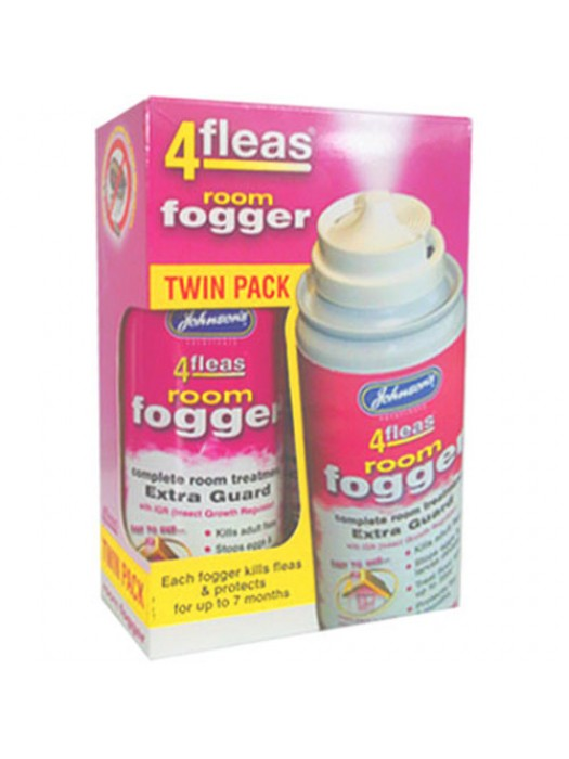4fleas Room Flea Fogger Bomb 2 x 100ml Can - 14 Month Protection