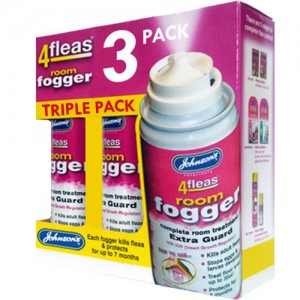 4fleas Room Flea Fogger Bomb - 3 x 100ml - 21 Month Protection