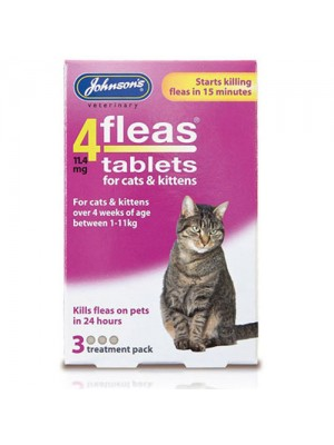 Johnson's Cats & Kittens Flea Tablets - 3 Treatments