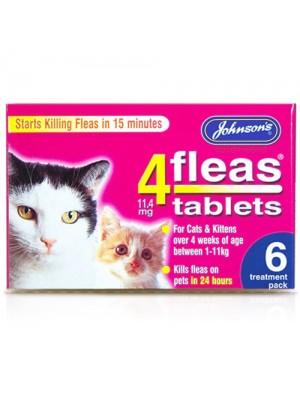 Johnson's Cats & Kittens Flea Tablets - 6 Treatments