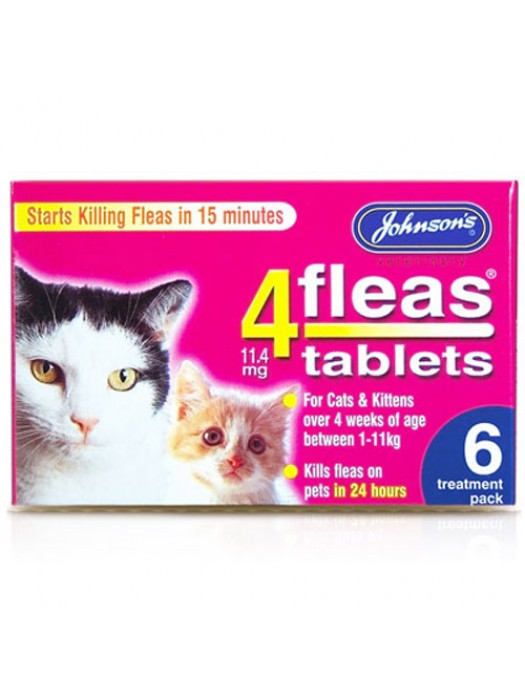 Johnson's Cats & Kittens Flea Tablets - 6 Treatments