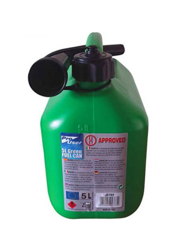 Plastic Jerry Petrol Can - Holds 5 Litres