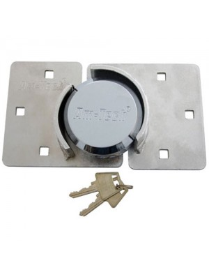 73mm Shackleless Round Padlock With Two Part Hasp For Vans Etc