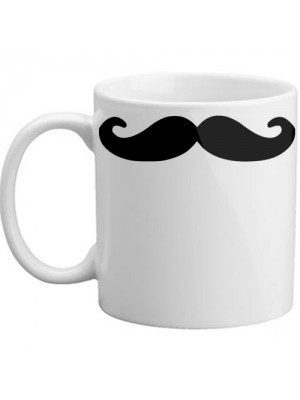 Novelty Drinking Fun Coffee Tea Moustache Gift Mug Cup