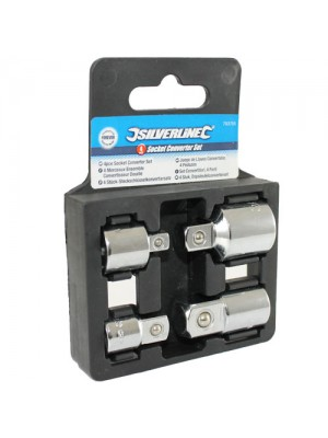 4pc Socket Converter Reducing Adapter Set - 1/2, 1/4, 3/8 inch