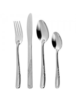 16 Pc Stainless Steel Dorothy Knife, Fork, Spoon Teaspoon Set