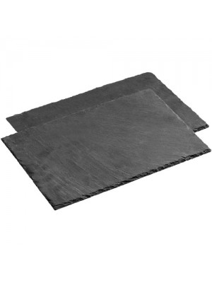 2 Piece Natural Elegant Slate Rectangle Dinner Dining Placemats