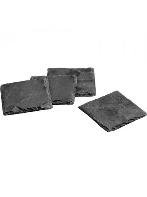 4 Piece Natural Elegant Slate Square Dinner Dining Table Coasters
