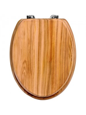 Brand New Classic Solid Natural Oak Wooden Bathroom Toilet Seat