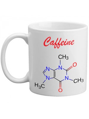 Freelogix Caffeine Molecule Caffeine Addict Tea Coffee Novelty Mug