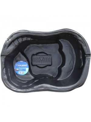 Bermuda Cove Moulded Pre-Formed Garden Fish Pond - 54 Litres