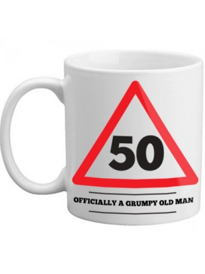 50 Officially A Grumpy Old Man Novelty Age Birthday Mug