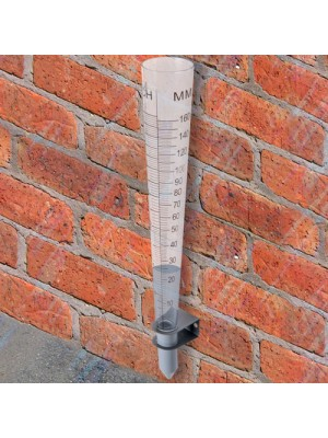 Metric & Imperial Plastic Rain Gauge Measure Watering Level
