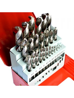 25 Pc HSS Drill Bit Set In Indexed Metric Set 1mm to 13mm