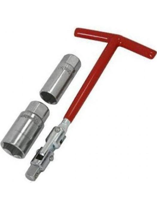 3 Pc Spark Plug Socket & T Bar Wrench Sockets Set 3/8inch Drive