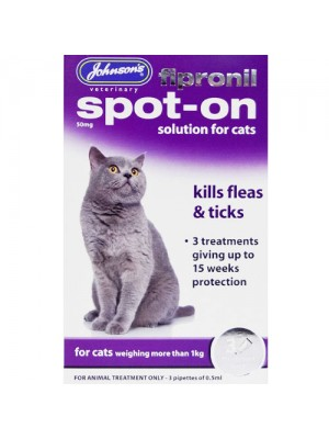 Johnson's Fiprinol Spot On Treatment For Cats - 15 Weeks