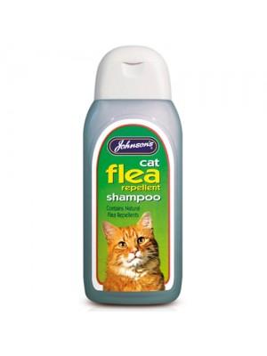 Johnsons Cat Flea Cleansing Shampoo Sensitive Shampoo 200ml