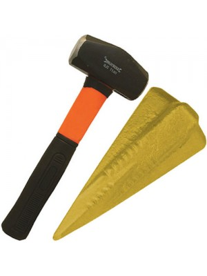 b Fibreglass Handle Lump Hammer & Log Splitting Bomb