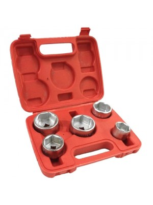 Brand New 5 Piece Oil Filter Socket Set Removal Remover Tool