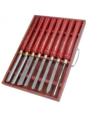 High Quality 8 Piece Wood Turning HSS Lathe Carving Chisel Set