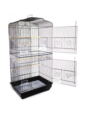 FreeLogix Extra Large Metal Bird Cage Canary Finch Budgie Parrot