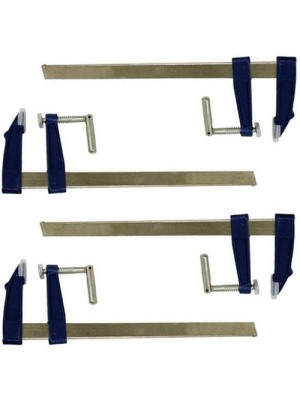 Set of 4 F-Clamps Adjustable Metal Clamp Woodworking Tools