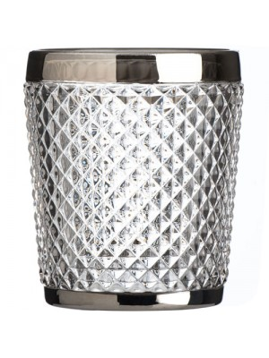 New Style Amazing Silver Rimmed Diamond Clear Tumbler Glass