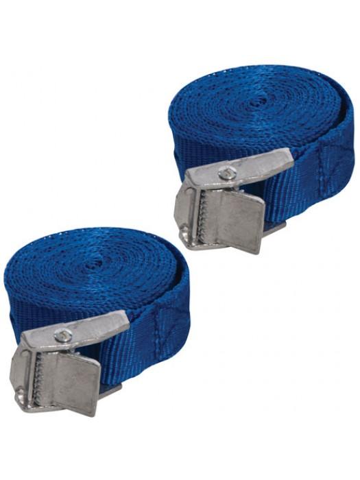 Silverline Set Of 2 Buckled Straps Tie Down Lashing Cam Buckle