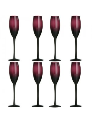 Brand New Set of 8 Mouth Blown Purple Glass  Champagne Glasses