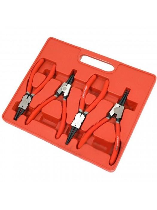 4 Piece Circlip Snap Ring Plier Internal External Pliers Set