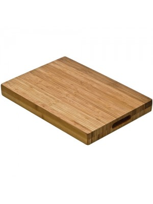 Large Dark Wood Tough Butchers Block Chopping Board Meat Food