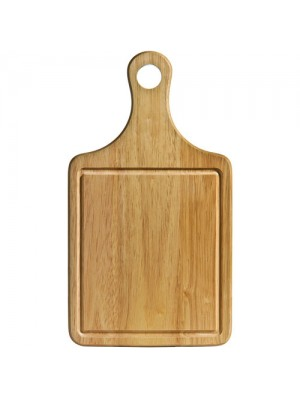 Rubber Wood Paddle Chopping Board W/Groove 36X20