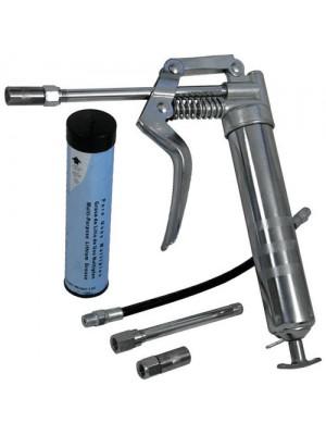 Grease Gun Set Pistol Grip 120cc Flexible Hose Refill Grease