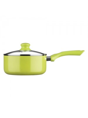 Ecocook Non Stick Saucepan 20cm Lime With Lid