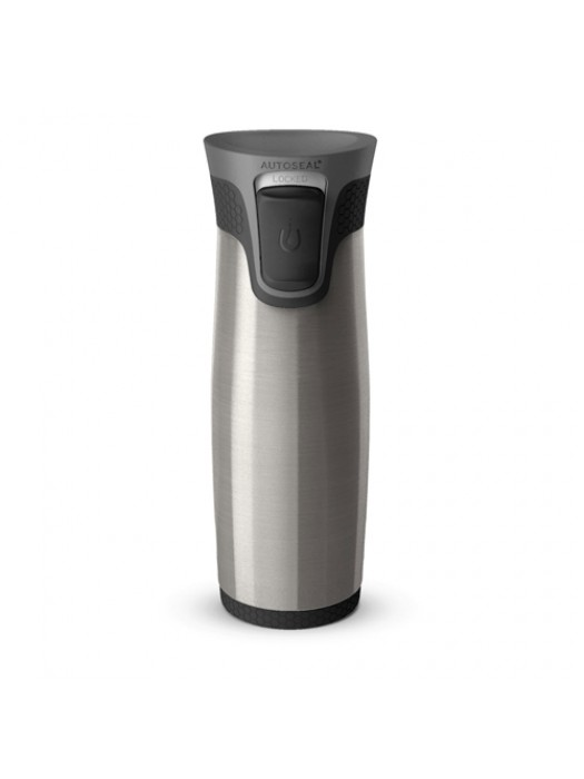 Contigo Autoseal Aria Grey/Black Mug Flask Hot/Cold 470ml Travel