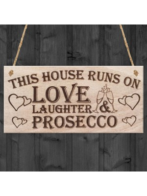 Love Prosecco Home Decor  Funny Poem Hanging Wooden Plaque Gift