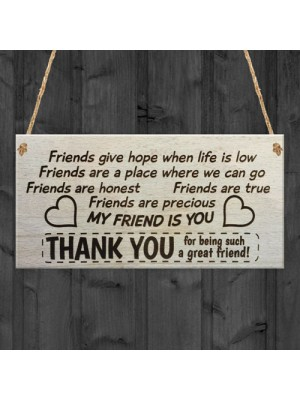 My Friend Is You Plaque Friendship Funny Novelty Gift FRIEND