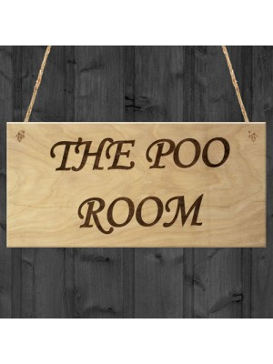 The Poo Room Bathroom Toilet Funny Novelty Gift Poop Plaque