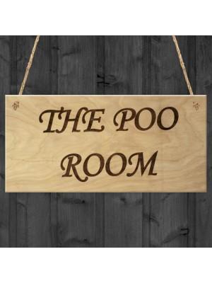 The Poo Room Bathroom Toilet Funny Novelty Gift Poop Plaque
