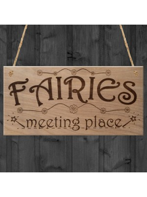 Fairies Sweet Cute Funny Plaque Wooden Hanging Gift