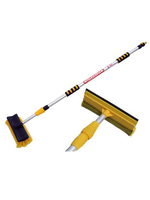 Adjustable Extendable WaterFed Telescopic Hose 3M Brush Squeegee