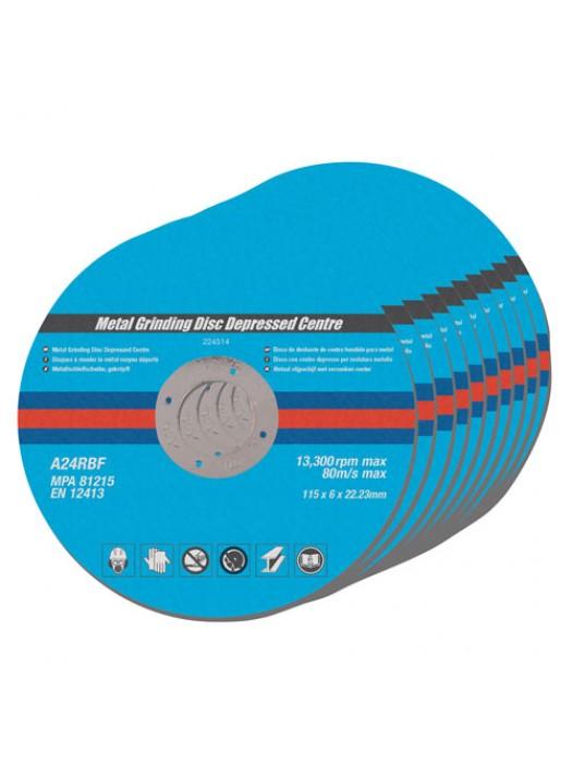 10pk Metal Grinding Discs Depressed Centre Disks 4.5 Inch 6mm