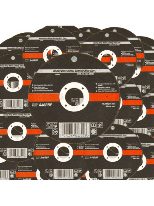 100 Pack 115mm Ultra Thin 1mm 4.5 Inch Wide Metal Cutting Discs