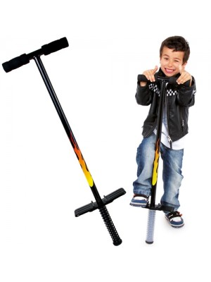 Childrens Traditional Pogo Stick Toy Flames Design