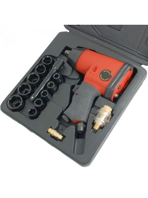 17 Piece Air Impact Wrench Gun Compressor Kit 1/2Inch Drive