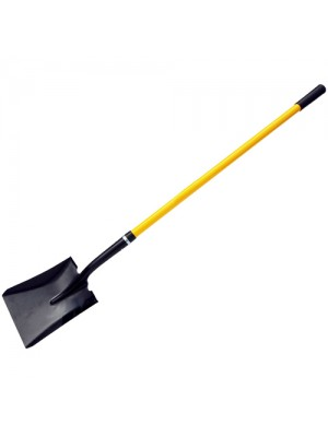 Extra Long Square Spade Shovel Fibreglass Rubber Grip Handle