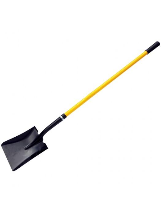 Extra Long Square Spade Shovel Fibreglass Rubber Grip Handle